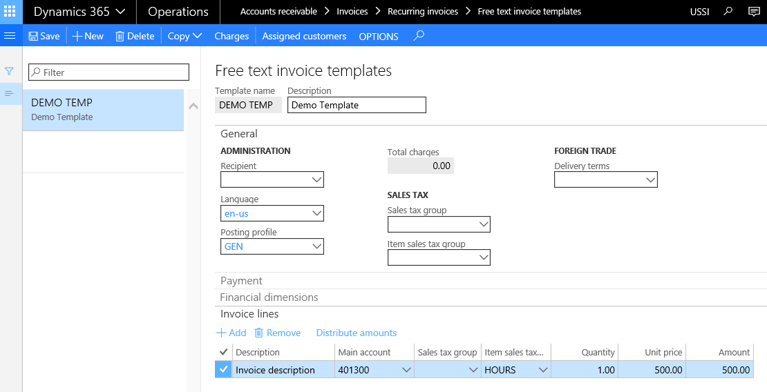 recurrent invoices - microsoft dynamics ax community forum, Invoice templates