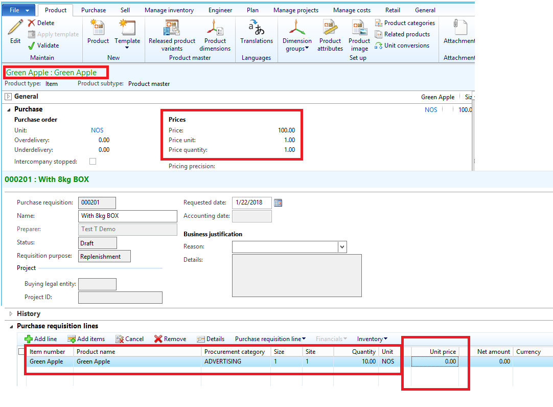 Purchase requisition unit price issue - Microsoft Dynamics AX Forum ...