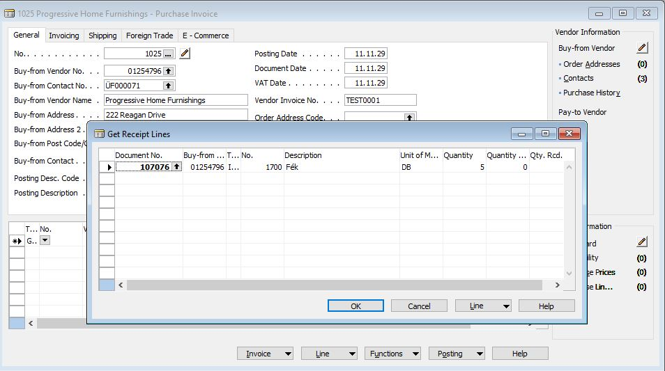 Purchase Receipt And Invoice Table Relation - Microsoft Dynamics