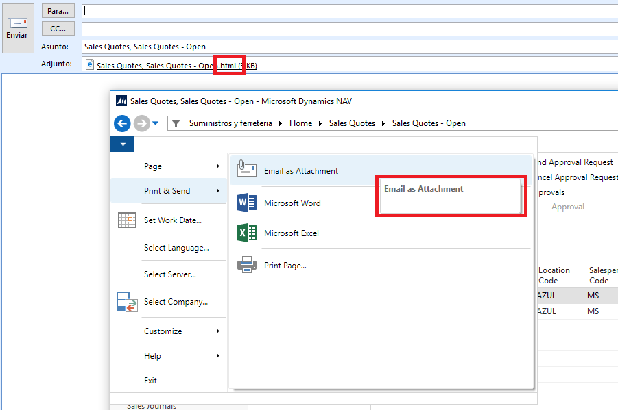 Email as Attachment in PDF (Not as html) - Microsoft ... Pictures In Dynamics Nav Email Message