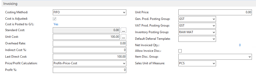 However, When I Make A PO With The Same Item, The Direct Unit Cost  Excluding GST Is Automated And Changes On Its Own (refer To Screenshot  Below).