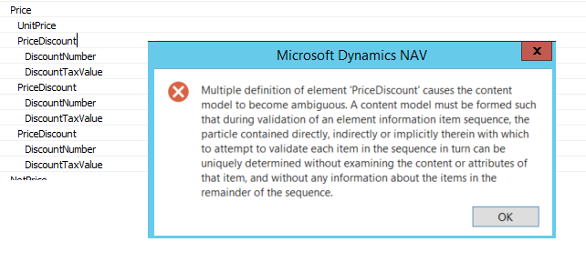 XMLPORT NAV 2013 R2 - ERROR WHEN THERE IS A SAME NODE NAME