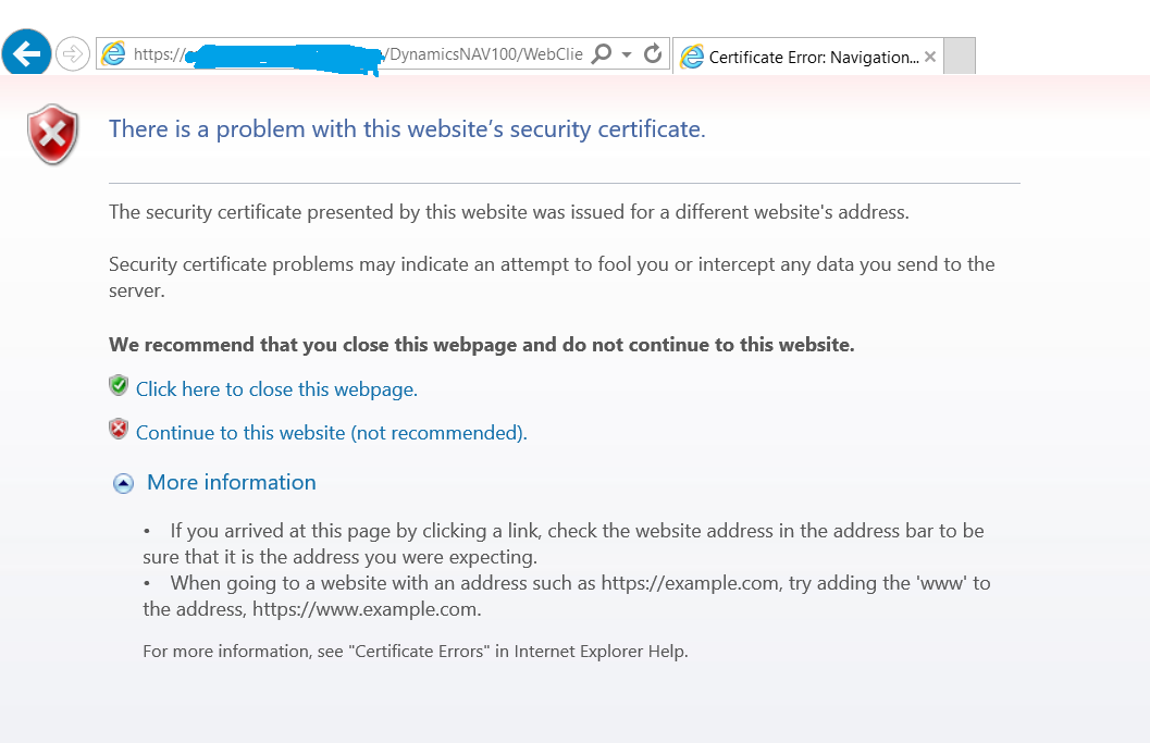 Ssl Connection To Web Client In A Test Environment Microsoft