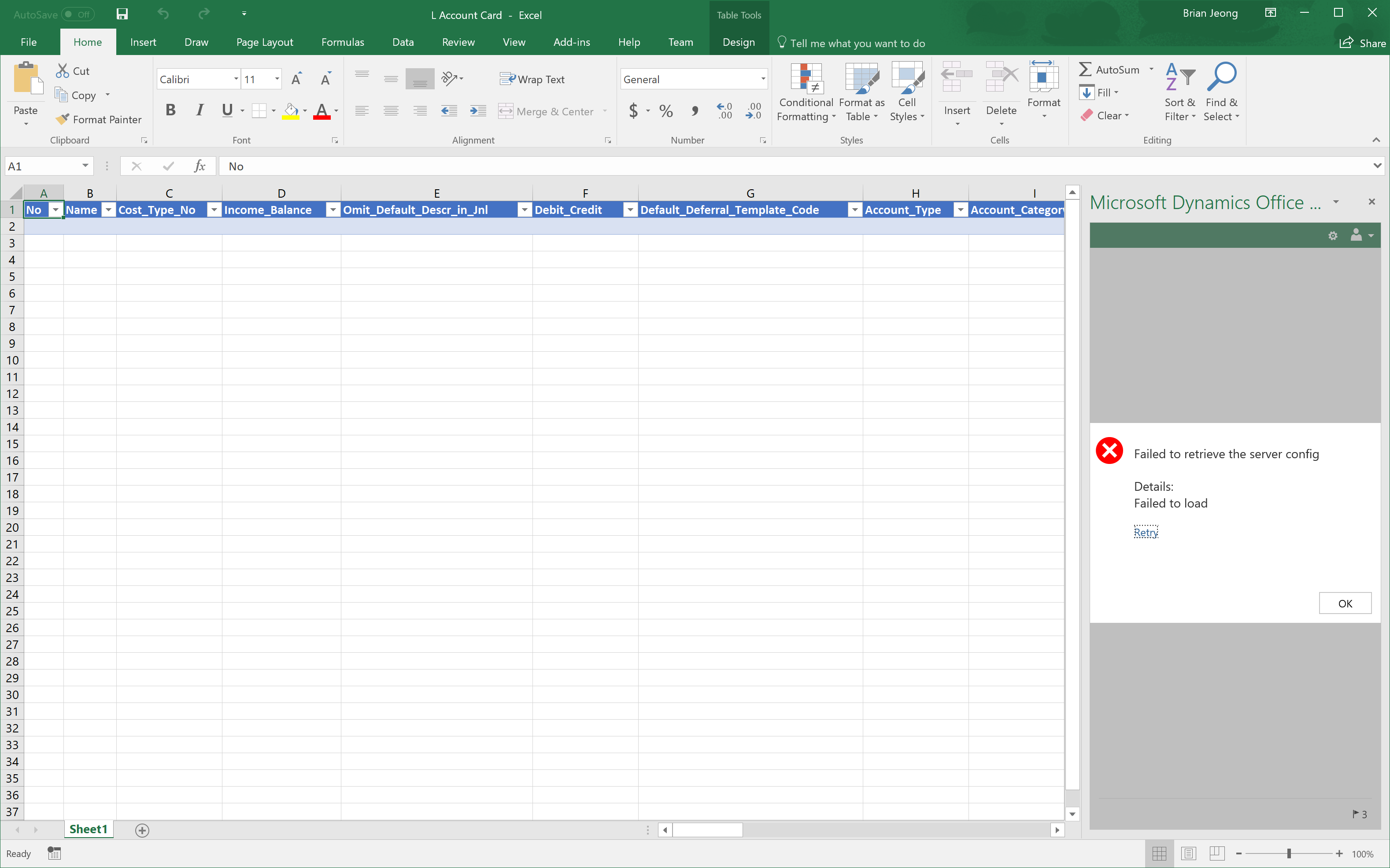 Edit in excel for chart of accounts dynamics 365 business the edit in excel has been working fine for me for items and customers but for some reason it refuses to work for chart of accounts ccuart Image collections