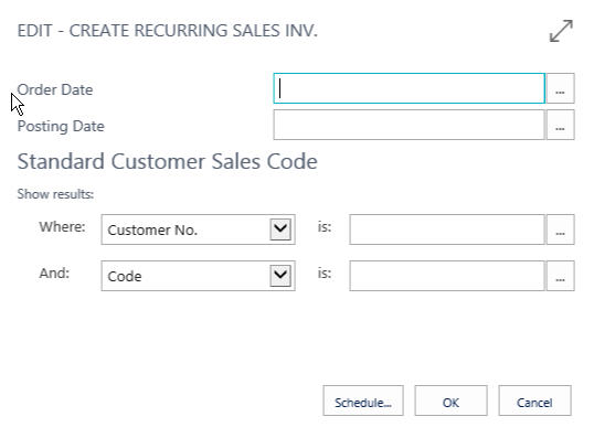 Recurring Sales Invoice In Dynamics Dynamics Business - What is recurring invoice online wine store