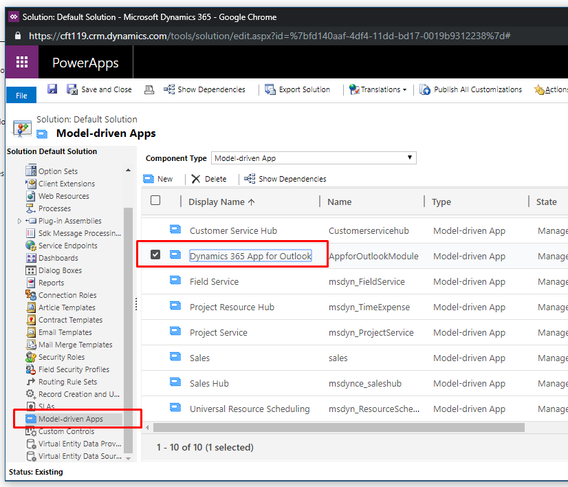 Dynamics 365 add-in for Outlook - Search box - Dynamics 365