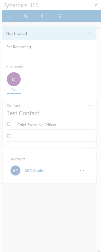Last/next activity cards for email recipient in Outlook app do not