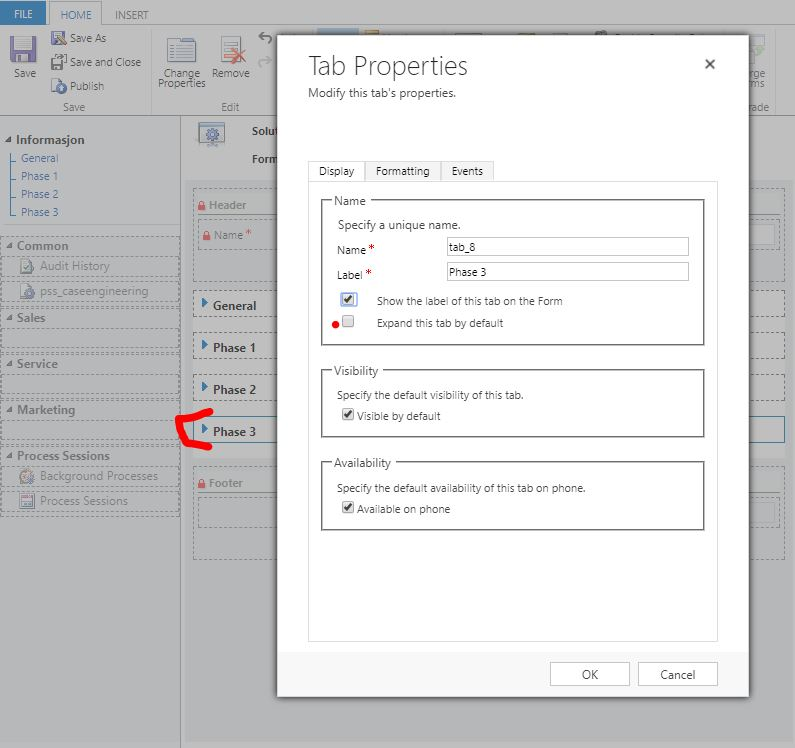 Bug with tabs default expand/collapse setting, and business