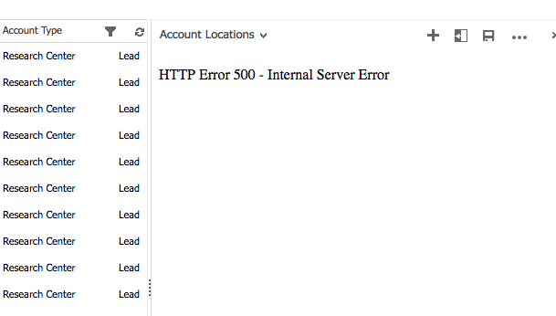 HTTP Error 500 - Internal Server Error - Dynamics 365 for