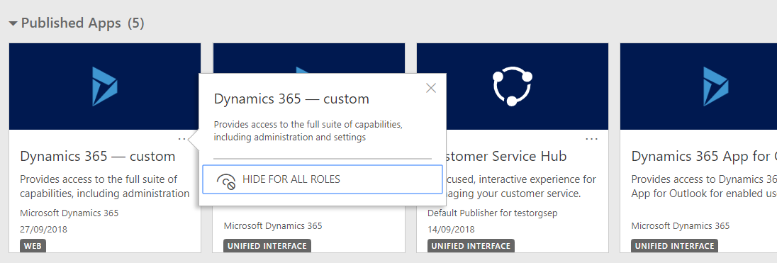 Question about unified interface - Dynamics 365 for Sales