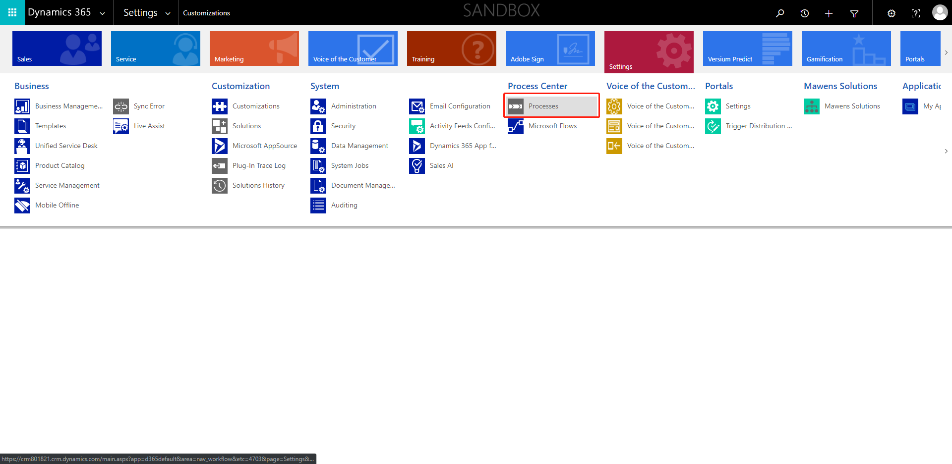 Business Processes delete - Dynamics 365 for Customer