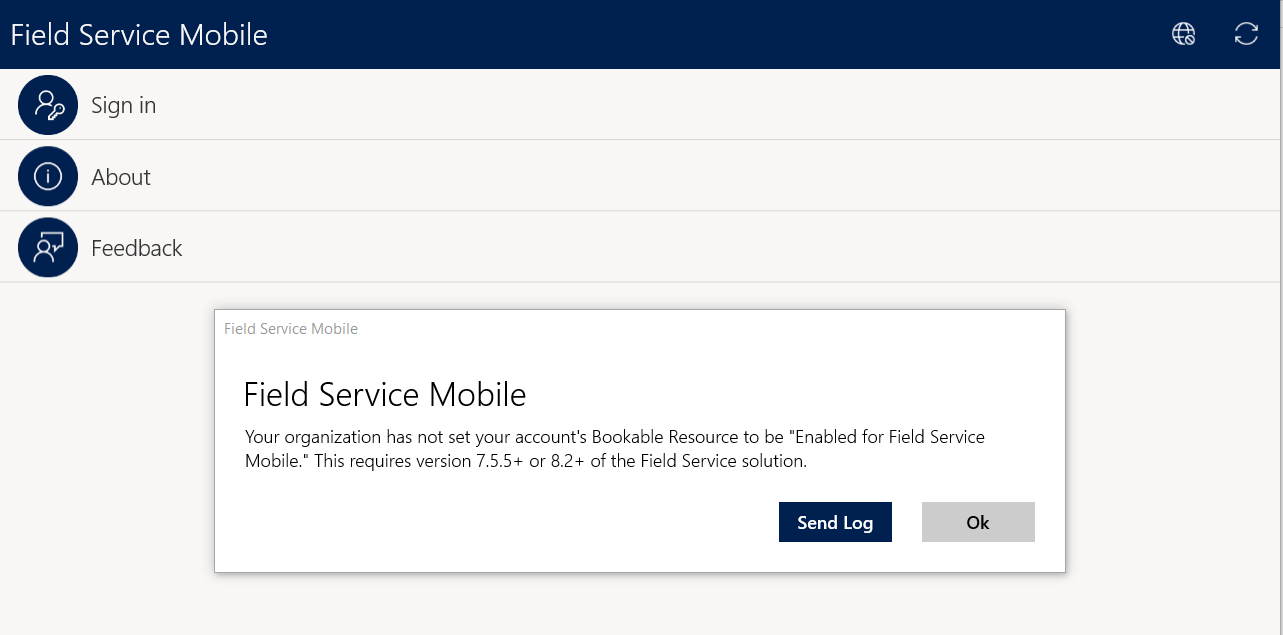 Field Service Mobile Version - Dynamics 365 for Field
