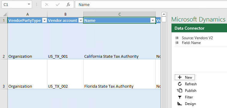 Calling D365 master data Odata feed from Excel VBA through