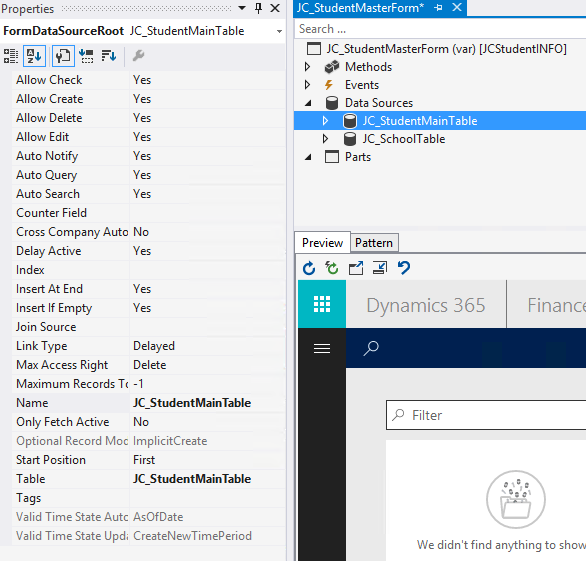 The table problem in form design - Dynamics 365 for Finance