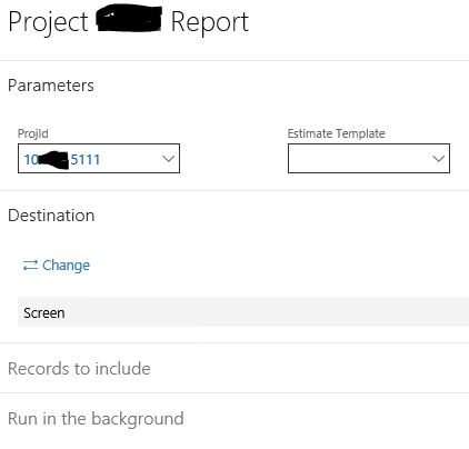 Dynamics 365 Finance and Operations SSRS Dependant Parameter
