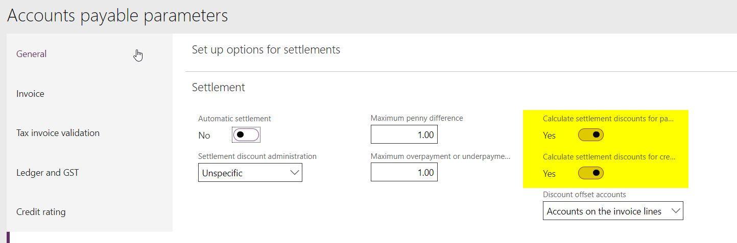 Reverse sales tax on Settlement discount - Dynamics 365 for
