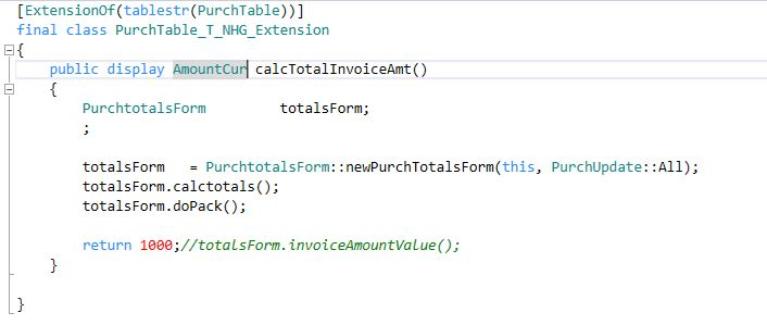 addLookupMethod from method in Extension table class - Dynamics 365
