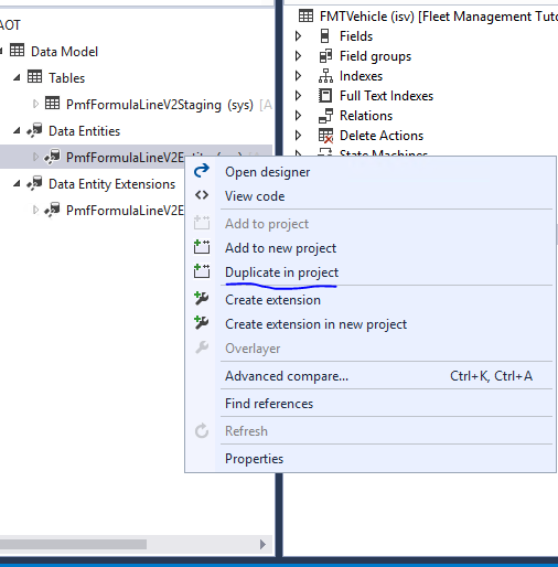 Mark an entity as public using extension - Dynamics 365 for