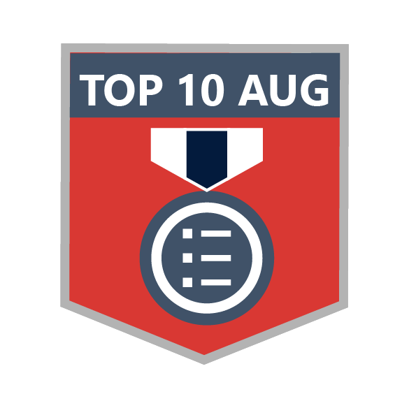 Top 10 in August 2014 Blog Leaderboard