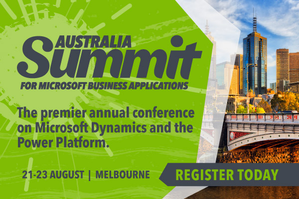Summit Australia for Microsoft Business Applications | August 20-22, 2019