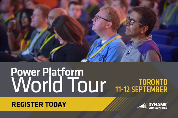 Power Platform World Tour - Toronto, CA | September 11-12, 2019