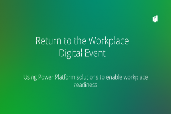 Return to the Workplace Digital Event | September 15, 2020