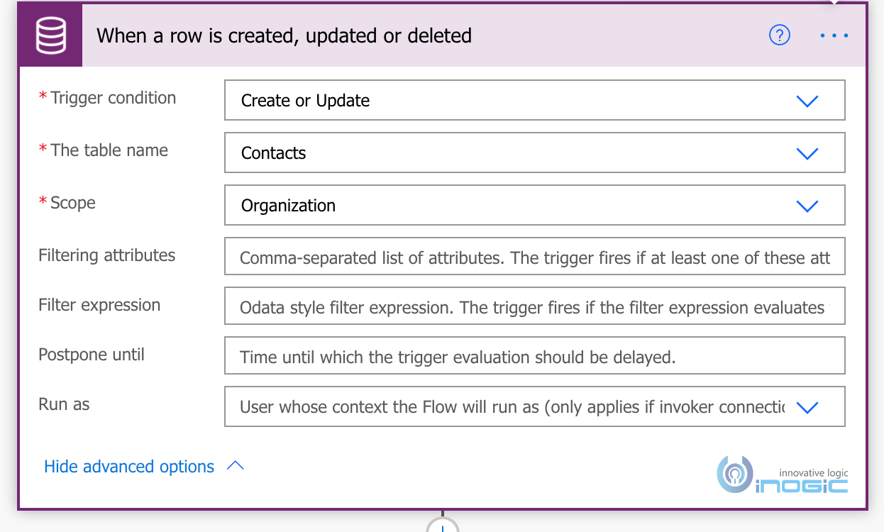 Execution Context for CDS Connector in Power Automate Flows