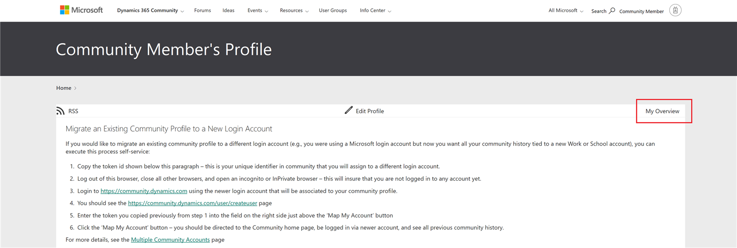 Image of Profile Page