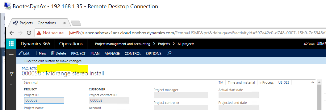 Form Caption of Details Master page - Microsoft Dynamics AX ...