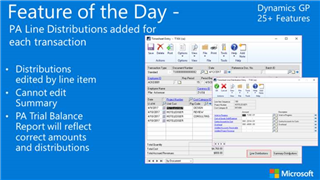 Microsoft Dynamics GP 2016 R2 PA Line Distributions for Each Transaction