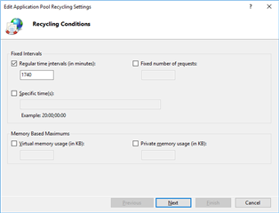 app pool Dynamics 365 CE On Premises: Application Pool Recycling