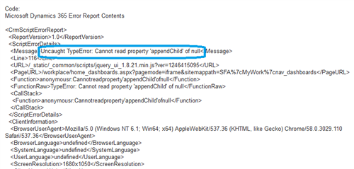 JavaScript Error after upgrade from CRM 2016 to Dynamics ...