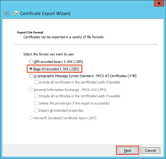 window azure issuer name and certificate is missing under