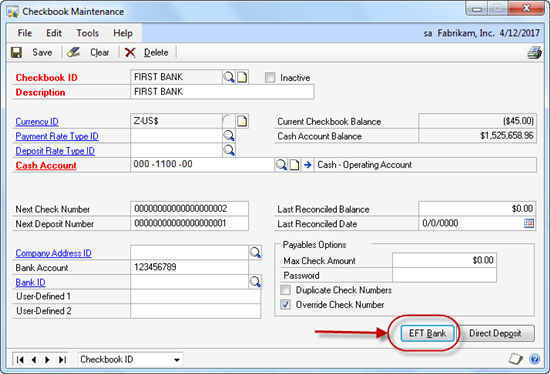 Payment options in Dynamics GP 2010 - Microsoft Dynamics GP