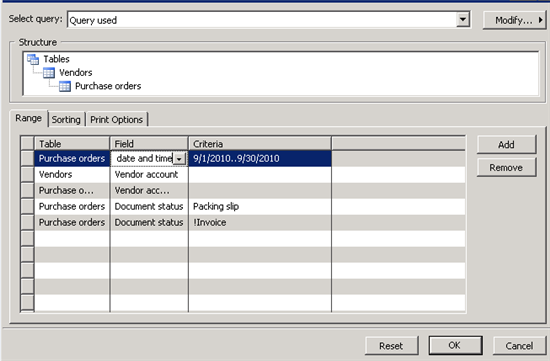 How do I produce a 'Goods Received Not Yet Invoiced' report