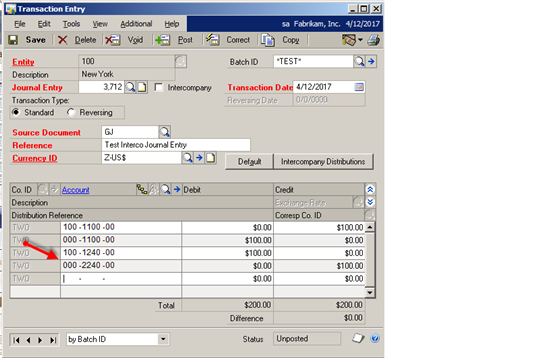 account assigned purchase order
