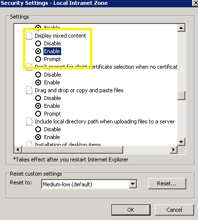 Access is denied' when trying to access iFrame in IE9 after