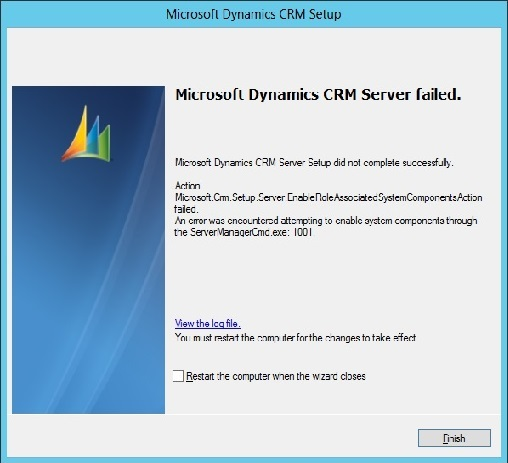 Unable to install CRM 2011 Server on Windows Server 2012