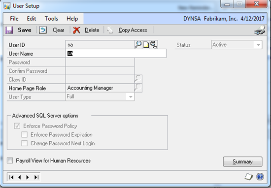 how to change sql password for sa
