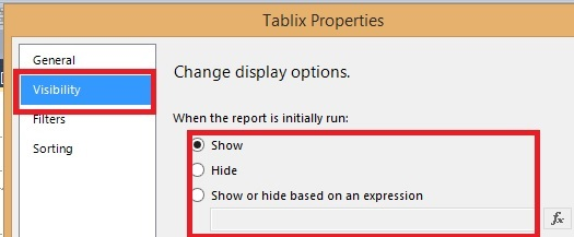 Report: The Hidden expression contains an error - Microsoft