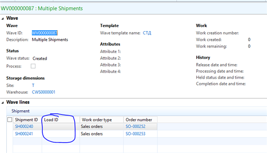 Load consolidation settings in WAX Microsoft Dynamics AX – Shipment Release