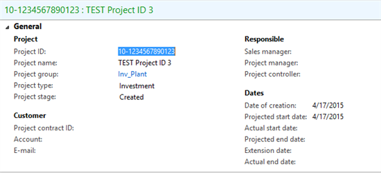 Project ID - Sequences Number - Microsoft Dynamics AX Forum