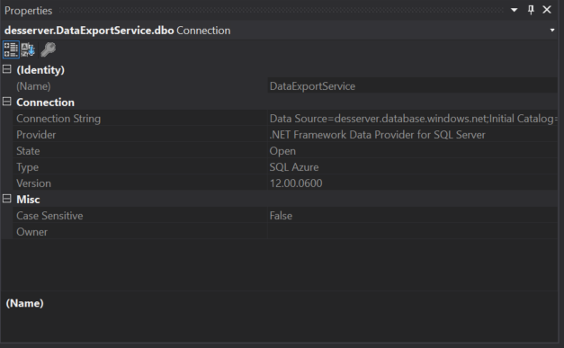 How To: Configure Data Export Service with an Azure SQL