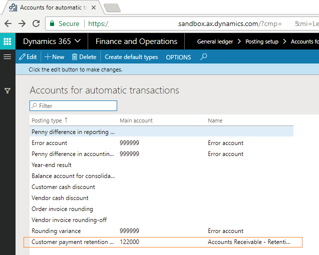 Customer retention in project accounting in Microsoft