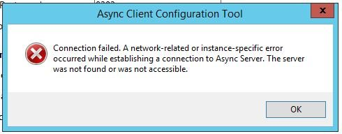 Async Client installation can't connect to Async Server