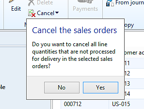 How do I delete a sales order in AX? - Microsoft Dynamics AX