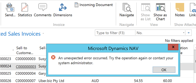 Email - Error Message - Microsoft Dynamics NAV Community Forum Pictures In Dynamics Nav Email Message