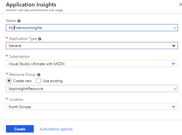 Monitoring your extension in the cloud with Application Insights