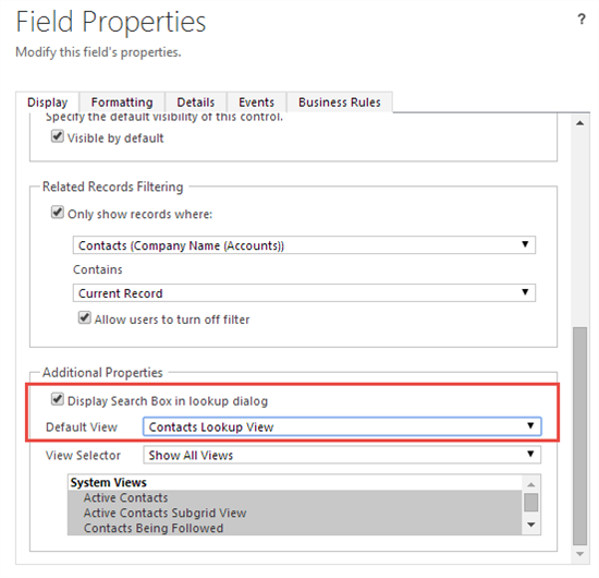 how to change default lookin value - Microsoft Dynamics CRM Forum