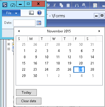 Setting Color in Date Picker in AX 2012 - Microsoft Dynamics